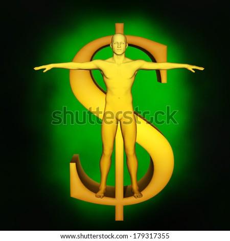 Power of money concept - stock photo