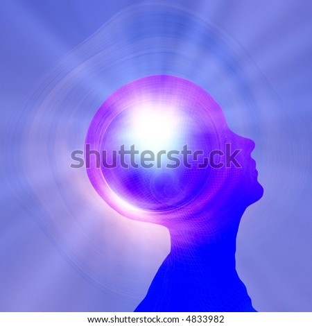 Power of thought - stock photo