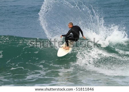 power on a wave - stock photo