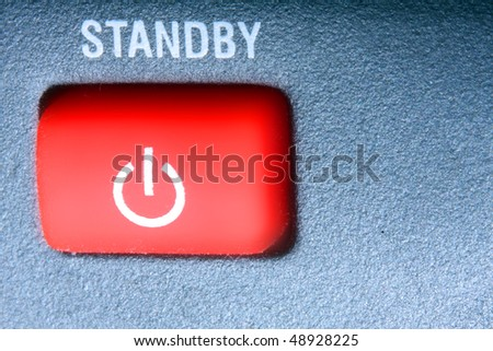 Power on/off button. - stock photo