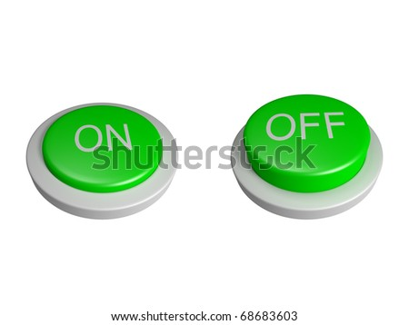 Power on off buttons - isolated - stock photo