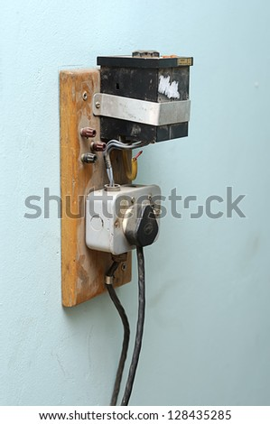 Power outlet - stock photo