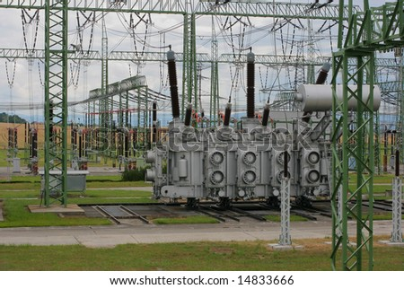 Power plant 1 - stock photo