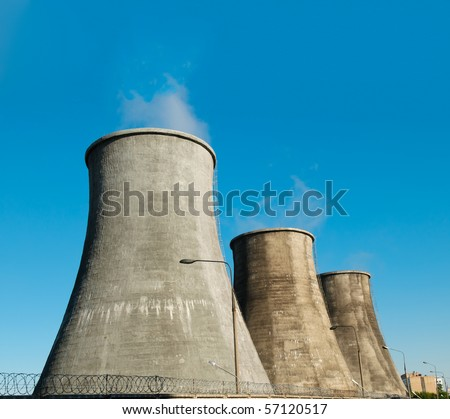 Power plant - stock photo