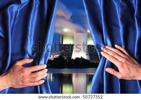 Blue Curtain Opening View Imágenes pagas y sin cargo, y vectores ...