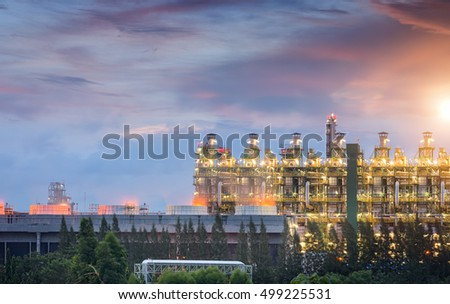Power plant,Energy power station at Twilight.