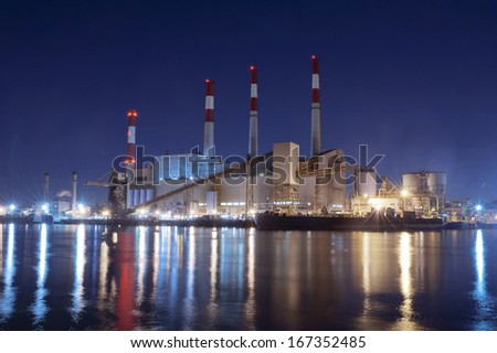 Power Plant from Roosevelt Island by Night, New York City