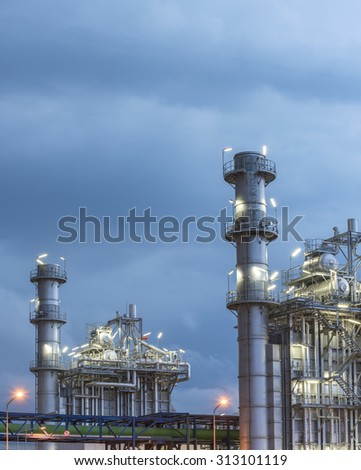 power plant in a night