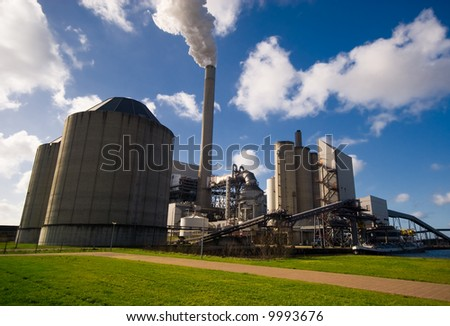 power plant in amsterdam the netherlands - stock photo
