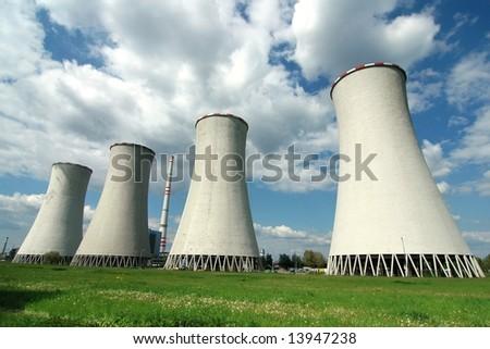 Power plant in Detmarovice (Czech Republic) - stock photo