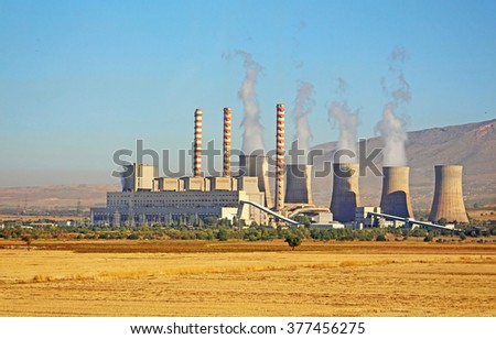 Power plant in Greece - stock photo