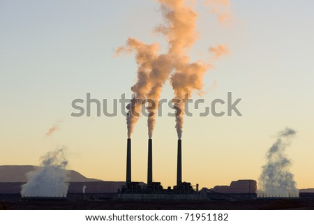 power plant in Page, Arizona, USA - stock photo
