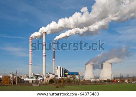 Power plant in Pocerady (Czech Republic) - stock photo