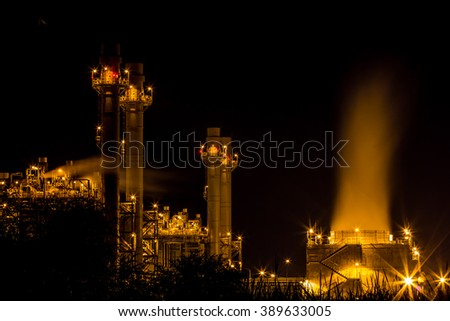 power plant industrial  - stock photo