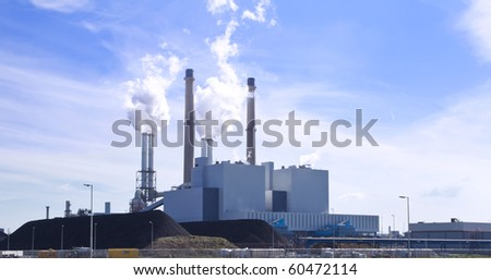 Power plant is creating energy for the people. - stock photo