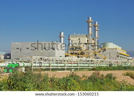 Power plant located in Majorca (Spain) - stock photo