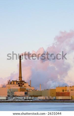 Power Plant Smoke - stock photo