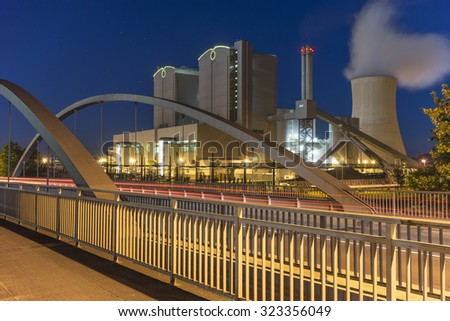 Power Plant Stoecken by Hannover in Germany