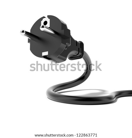 Power Plug isolated on a white background - stock photo