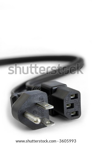 Power Plugs - close up on power cord extension cable