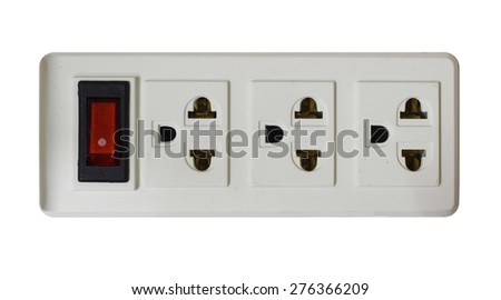 Power plugs socket isolate - stock photo
