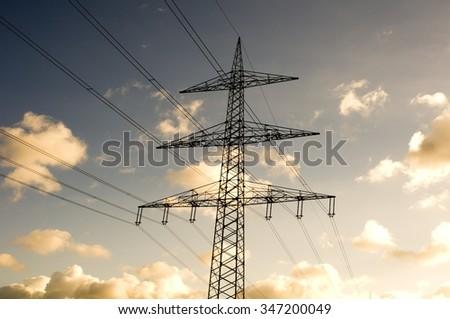 Power pole - stock photo