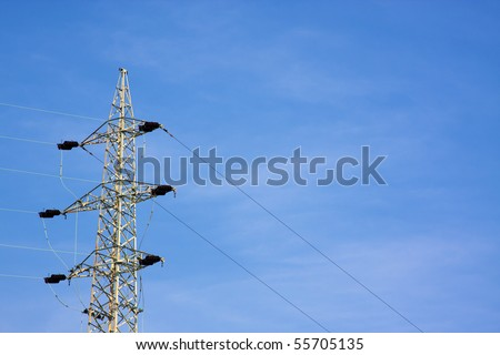 Power poles - stock photo