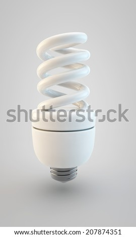 power preserving lamp on a gray background - stock photo