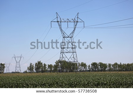 Power Pylon - stock photo