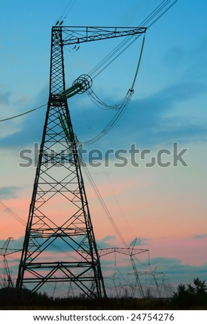 Power pylons.