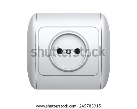 Power socket.  3d illustration isolated on a white background - stock photo