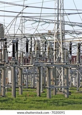 power station equipment - stock photo