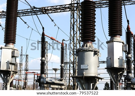Power station for making electric energy - stock photo
