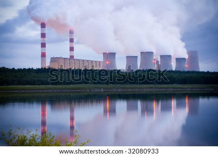 power station in Belchatow Poland - evening