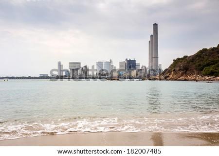 Power station in Lamma Island Hong Kong, China  - stock photo