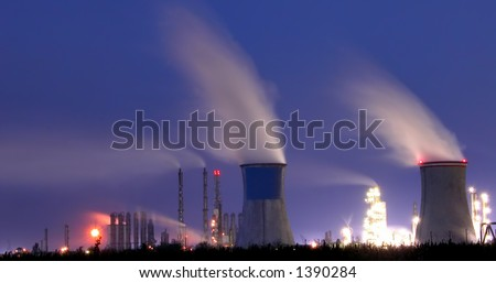 Power station in night