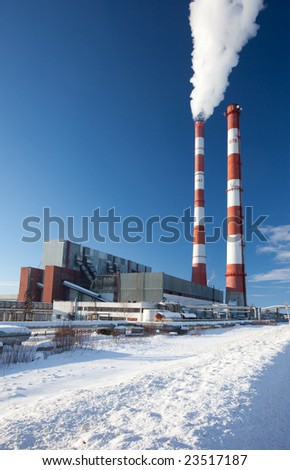 Power station. Industrial production. - stock photo