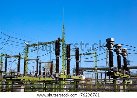 Power station on sunny day - stock photo