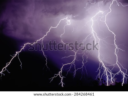 Power Strike - stock photo