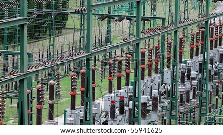 Power substation - stock photo