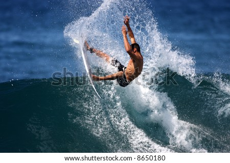 power surfer - stock photo