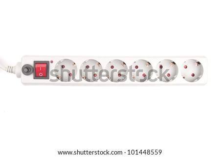 power surge - isolated on white background - stock photo