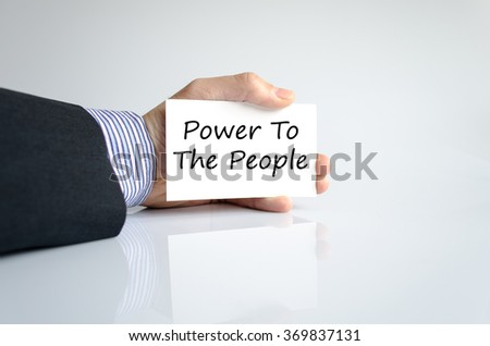 Power to the people text concept isolated over white background