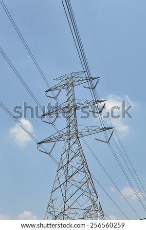 power tower and transmission line