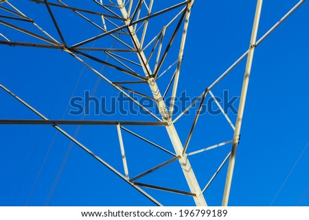 Power tower with the sky background