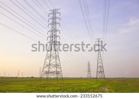 Power Transmission Line  - stock photo