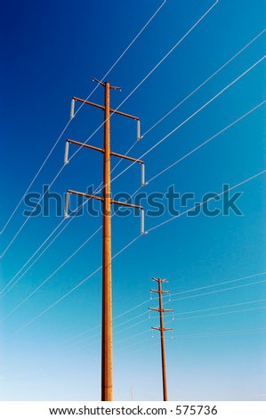 Power transmission lines in an electrical grid.