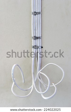 Power wiring in buildings. - stock photo
