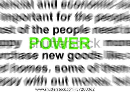 power written in newspapere showing business concept - stock photo