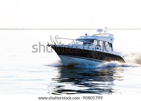 powerboat - stock photo